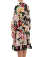 Dolce & Gabbana Double Floral Pattern Dress - Rose E Papaveri