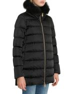 Herno Down Jacket With Fox Fur Collar - Nero