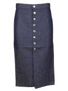 Simon Miller Denim Midi Skirt - Indigo