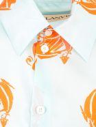 Lanvin Shirt L/s W/print - Ice Blue