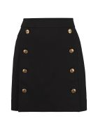 Givenchy Gold-tone Button Skirt - black
