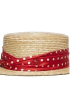 Maison Michel Kiki Hat - Natural red