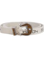 Golden Goose Rodeo Printed Leather Belt - White