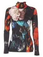 Paul Smith Black T-shirt With Floral Print - Black