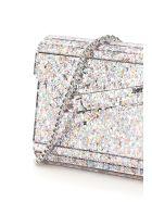 Jimmy Choo Multicolor Glitter Acrylic Candy Clutch - MOCHI (Silver)