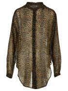 Saint Laurent Leopard Print Shirt - BROWN LEOPARD PRINT