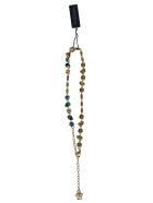 Versace Crystal Embellished Necklace - Multicolor/Green
