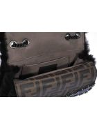 Fendi Goat Fur Small Bag Bugs Bag - Black