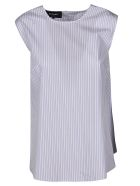 Rochas Striped Bow Top - Pastel