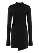 Off-White Draped Sheath Dress - Black blue