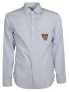 Gucci Leopard Crest Striped Shirt - White