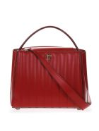 Valextra Brera Top Handle Medium Bag In Red Leather - Red