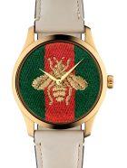 Gucci 'g-timeless Garden Le Marché Des Merveilles' Watch - White