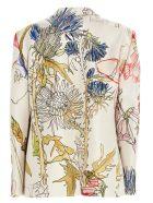Alexander McQueen 'floral Back' Blazr - Ivory/mix
