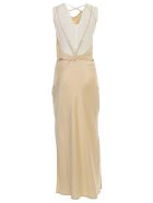 Nanushka Narita Dress W/s Long Satin - Wax Yellow