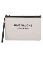 Saint Laurent Pouch - Lino bianco/nero