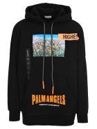 Palm Angels Palm Angels Yosemite Experience Printed Hoodie - BLACK