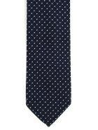 Dsquared2 Tie Silk Cotton Jacquard - Navy Marrone
