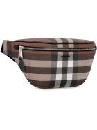 Burberry Checked E-canvas Belt Bag - brown