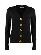 Tory Burch Simone Merino Wool Cardigan - black