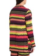 M Missoni Multicoloured Zigzag Motif Cardigan - Multicolor