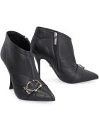Dolce & Gabbana Leather Pointy-toe Ankle-boots - black