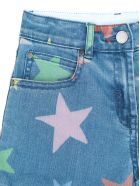 Stella McCartney Multicolor Stars Denim Shorts - Denim
