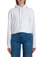 Calvin Klein Jeans Hoodie With Logo Box Print On Back - Bianco