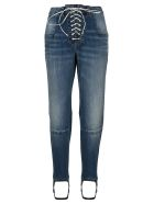Ben Taverniti Unravel Project Unravel Laced Stirrup-hem Jeans - LIGHT BLUE