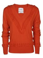 Barrie V-neck Jumper - Red