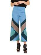 Circus Hotel Color Block Pants - Light blue