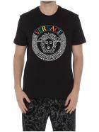 Versace Logo Rainbow T-shirt - Black