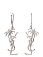 Saint Laurent Logoed Earrings - silver