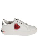 Love Moschino Sequined Heart Sneakers - White
