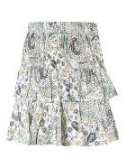 Isabel Marant Étoile Floral Print Ruffled Skirt - Ecru/Almond