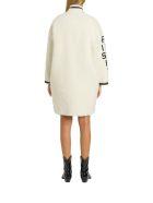 Philosophy di Lorenzo Serafini Teddy Coat With Contrasting Logo - Bianco