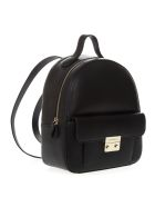 Emporio Armani Black Faux Leather Backpack - Black