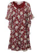 Chloé Ruffled Dress - RED-BLUE