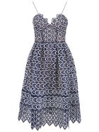 self-portrait Azalea Dress - NAVY WHITE (Blue)