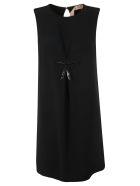 N.21 Bow Embellished Dress - Black