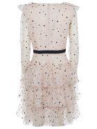 Philosophy di Lorenzo Serafini V-neck Dotted Print Back Zip Dress - Pink/Black