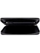Prada Saffiano Leather Ziparound Wallet - black