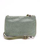 Borbonese Shoulder Bag Small - Verde Militare/verde Militare