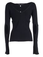 Eudon Choi Cut-out Detail Sweater - Navy