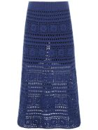 STAUD Marlin Skirt - NAVY  WHITE (Blue)
