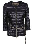 Herno Chain Belt Puffer Jacket - Nero