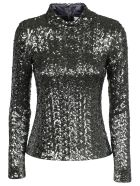 Alexis Sequined Top - Silver