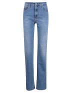 Palm Angels Indaco Flared 5 Pockets Long Jeans - Medium/Blue
