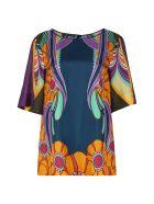 Alberta Ferretti Printed Silk Blouse - Multicolor