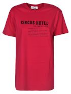 Circus Hotel Logo Print T-Shirt - Red/Black